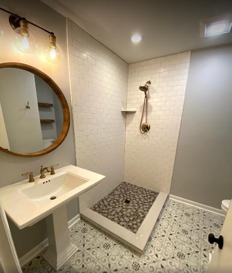 Contemporary Bathroom remodel in Louisville KY