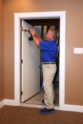 Louisville Handyman Employee Finishing Handyman Work in Louisville KY
