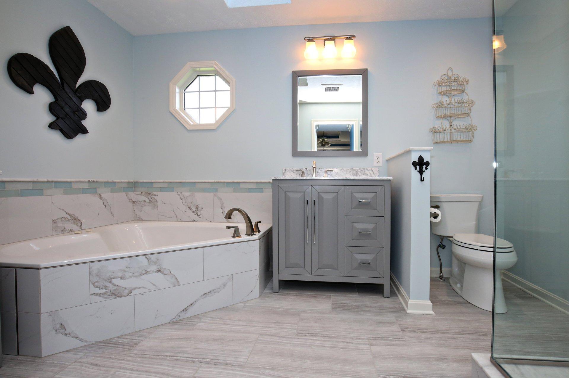 Marble Bathroom Remodel in Louisville KY