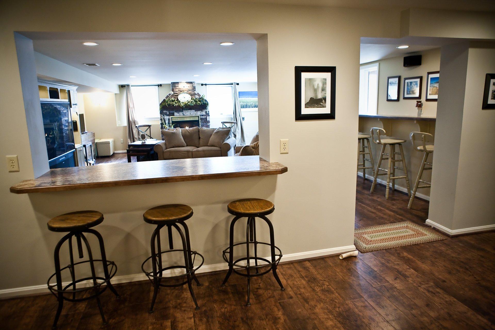Basement Bar Remodel in Louisville KY