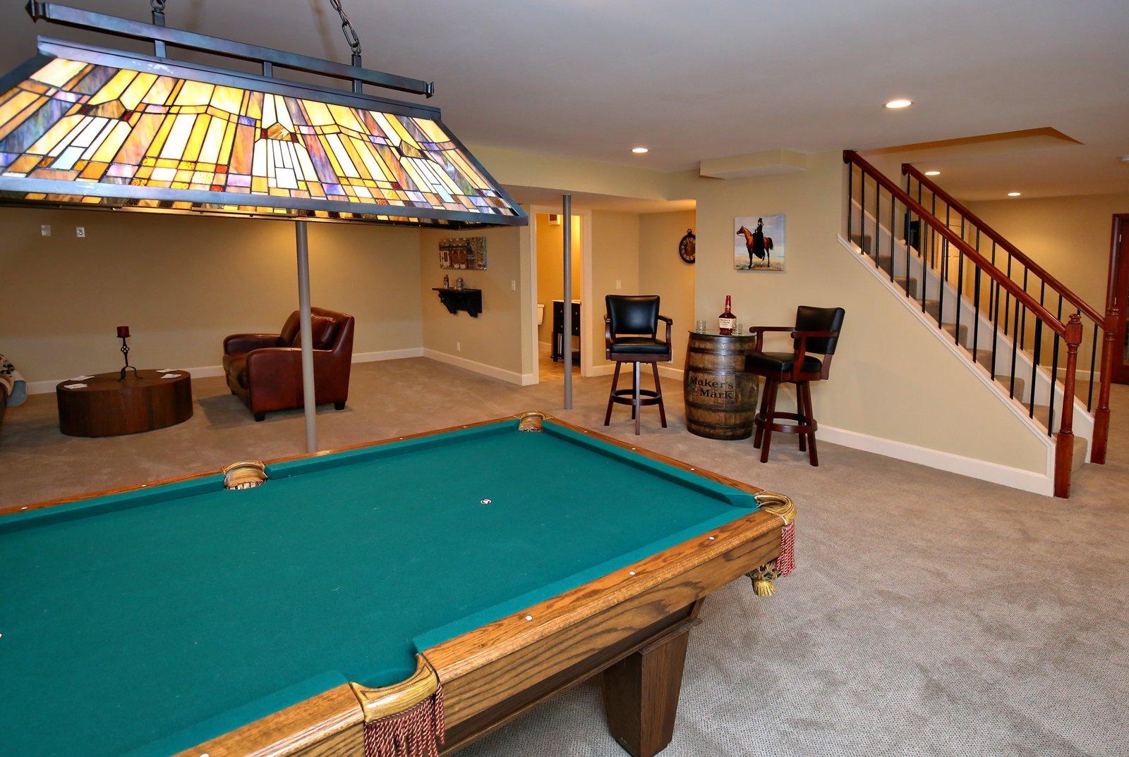 Basement Pool Room Remodel in Louisville KY