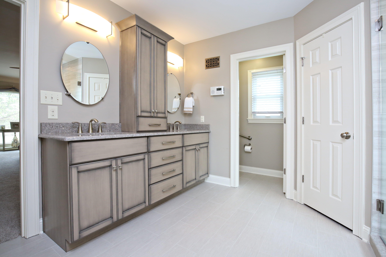 Gray Contemporary Master Bathroom Remodel in Louisville KY